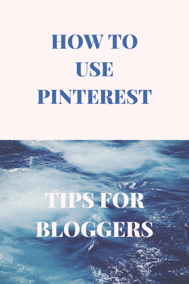 Ocean Blue Serif Pinterest Graphic